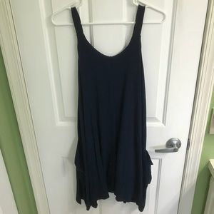 Alya Dresses - Navy blue tank top dress with pockets size M